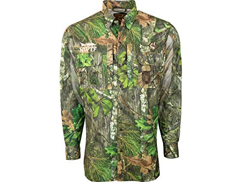 Ol' Tom Men's Mesh Back Flyweight Shirt Long Sleeve Polyester Mossy Oak NWTF.