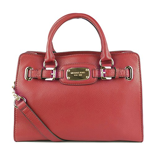 Michael Kors Genuine Hamilton Red Leather Med Tote Bag by Michael Kors