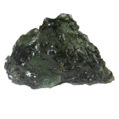 (SatinCrystals Meteorite Moldavite Collectible Green Glass Mountain Tektite Asteroid Clear Standing Stone C10 (1)