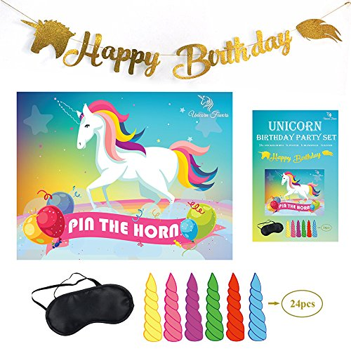 Unicorn Favors Pin The Horn On The Unicorn Birthday Game Unicorn