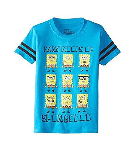 Nickelodeon Boys Many Moods Of Spongebob T-Shirt (Blue, Medium 8)