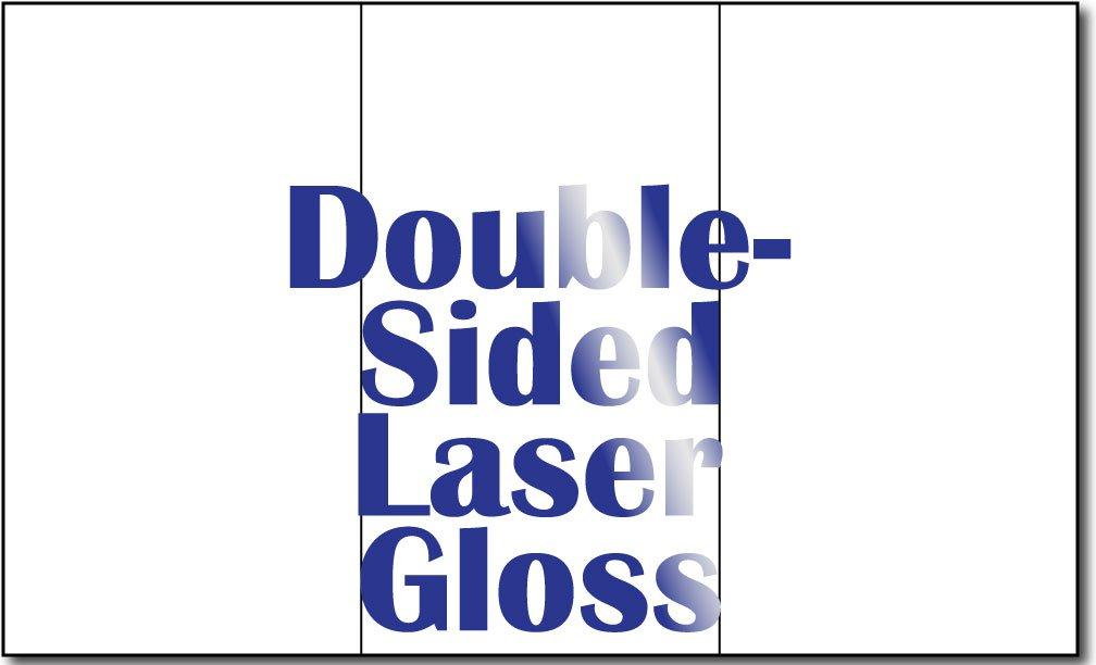 8 1/2'' x 14'' 38lb Laser Gloss Trifold Brochures - 250 Brochures