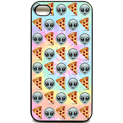 iPhone 4 Hülle/Emoji 4sPhone pizza-Motiv alien emojis reddit tie dye