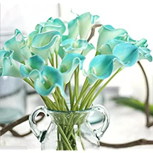 SMYLLS Calla Lily Bridal Wedding Bouquets with Latex-Look Like Real,Eco-friendly Odourless Artificial Flowers 7