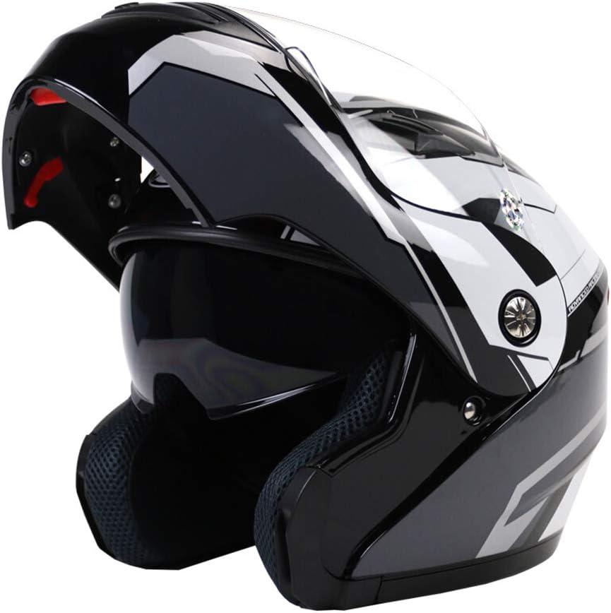 GWM オートバイのヘルメット、機関車のレトロなハーフヘルメット、男性と女性のハーフカバー人格クールな顔のヘルメット、レトロなトレンドファッションフルフェイスのヘルメット、耐摩耗性、耐衝撃性 (サイズ さいず : XXL)  XX-Large