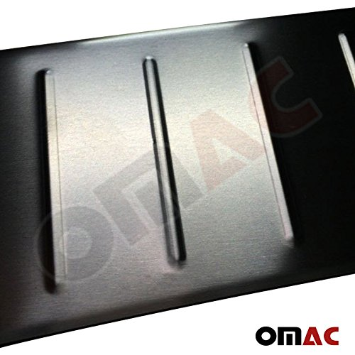 OMAC Ladekantenschutz Schutz Sto/ßstangenschutz Geb/ürstet Edelstahl Chrom mit Abkantung