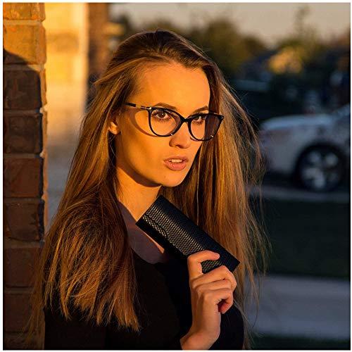 Non Prescription Glasses Eyeglass Frames for Women, Cat Eye Glasses Frames with Clear Lenes, Designer Handmade Stylish Black Eyewear - Glasses Frame Eye Cat