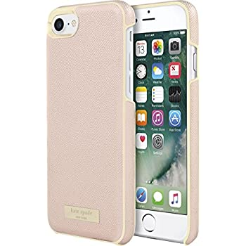 Incipio Apple iPhone 7/8 Kate Spade New York Wrap Case - Saffiano Rose Gold/Gold Logo Plate