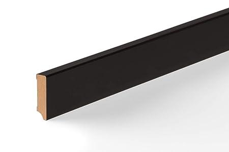 KGM Sockelleiste schwarz 58mm   Modern mdf Leiste mit schwarzer ...