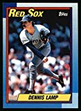 1990 Topps # 338 Dennis Lamp Boston Red Sox (Baseball Card) Dean's Cards 8 - NM/MT Red Sox