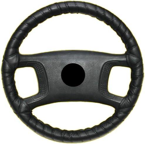 /41/cm//10/cm Volante/ /Coprivolante Coprivolante in vera pelle colore nero /Ø 39/
