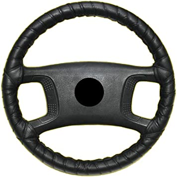 Aerzetix Lenkradhülle Zum Schnüren Größe M 37 40 Cm Aus Echtem Leder Schwarz Auto