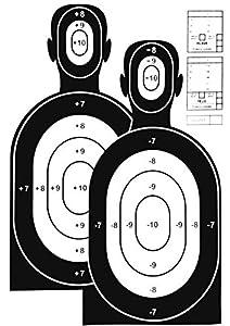 Lebens Große Airsoft Zielscheiben / Mannscheibe  Hostage Training  - 10 Stück