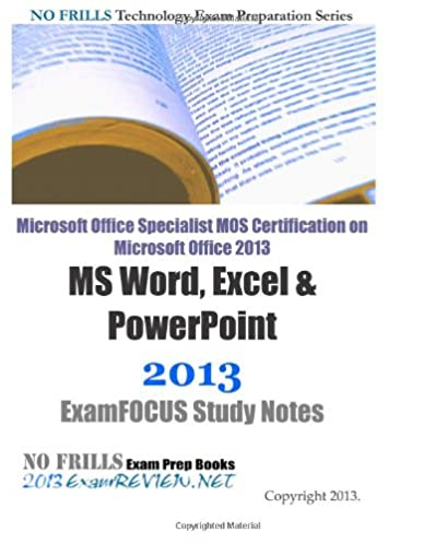 microsoft office specialist mos certification on microsoft office rh amazon com Exam Study Tips Study Guide Exam Outlines