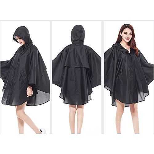 Secutey Cape Léger Ladies Dry Ultra Mignon Noir Imperméable Light Poncho rnrdaqwf0