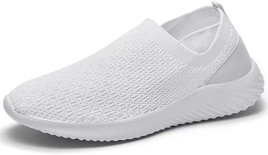 Amazon.com | LANCROP Women's Slip on Sneakers - Casual Comfortable ...