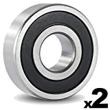 6302 bearing - 6302-2RS Sealed Bearing - 15x42x13 - Lubricated - Chrome Steel (2 PCS)
