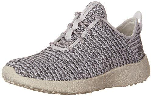 Skechers Sport Women's Burst City Scene Fashion Sneaker,White/Grey,8 M US -