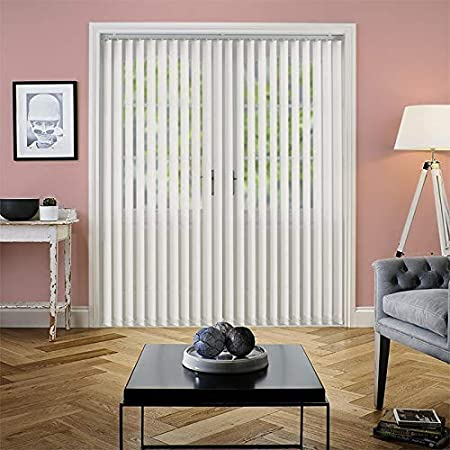 600mm X 1400mm D W Swift Direct Blinds Made to Measure Vertical Blind Amaris Beige custom made in 14 size ranges individually made to your custom sizes