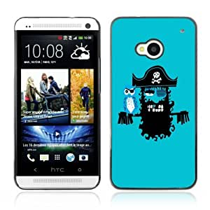 Designer Depo Hard Protection Case for HTC One M7/Pirate & Parrot
