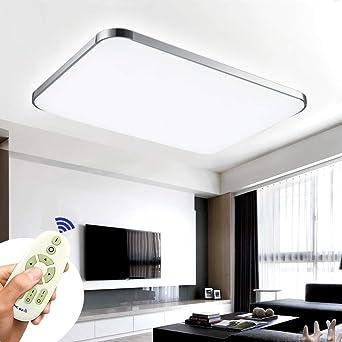 COOSNUG 8W Dimmbar Ultraslim LED Deckenleuchte Modern Deckenlampe  Schlafzimmer Küche Flur Wohnzimmer Lampe (Silber Dimmbar 8-8K)