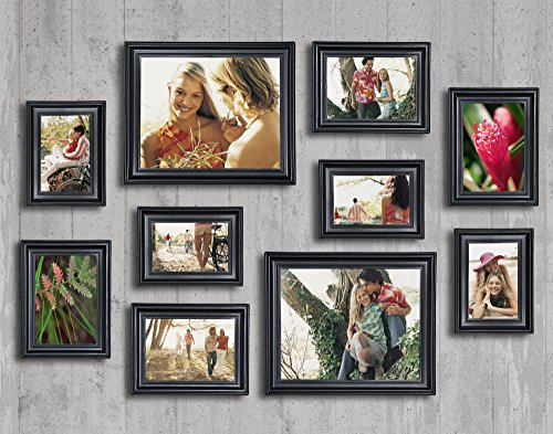 10 Piece Matte Black Picture Frame Set