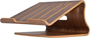 Samdi Laptop Stand Wood,Notebook Radiator Stand,Wooden Cooling Computer Holder,Suitable for Most laptops Heat Dissipation Shelf & Home Decor Office Must-Haves Desk Organiser(Walnut)