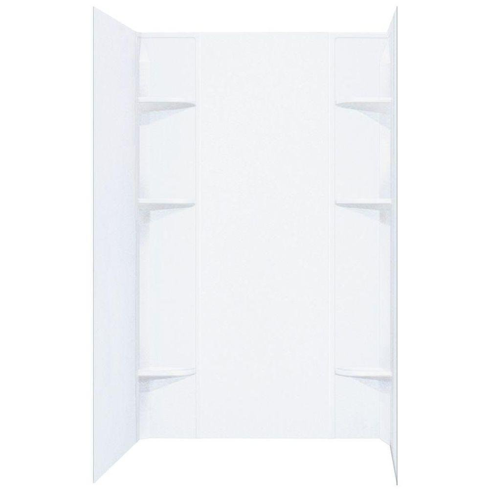 Mustee 260WHT Durawall Thermoplastic 60-in W x 40-in D Shower ...