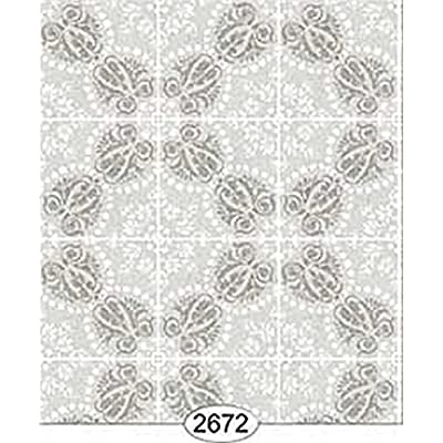 Dollhouse Miniature 1:12 Scale Wallpaper or Flooring Rose Hill Tile Grey: Toys & Games