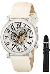 Stuhrling Original Women's 109SW.1215P2 Amour Aphrodite Delight Automatic Skeleton White Leather Watch