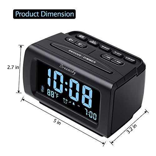 Radio USB for Snooze, Sleep Timer.