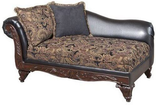 Floral Chaise Lounge Upholstery San Marino Chocolate Silas Raisin