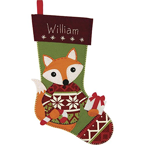 Dimensions Needlecrafts Dimensions Woodland STOCKING Felt Applique Kit, 72-08280