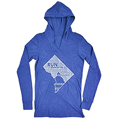 Women's Lightweight Performance Hoodie District of Columbia State Runner