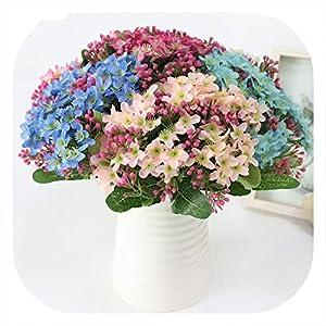 Memoirs- Simulation Silk Small Chrysanthemum Flower Bouquet Country Style Daisies Flower Wedding Decor Accessories Home Decoration 32