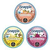 Snapple Iced Tea K-Cups Variety Sampler- Lemon, Peach, & Raspberry