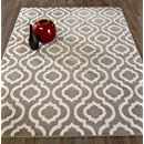 "Diagona Designs Contemporary Moroccan Trellis Design 5 by 7 Area Rug, 63"" W x 87"" L, Grey & Ivory"