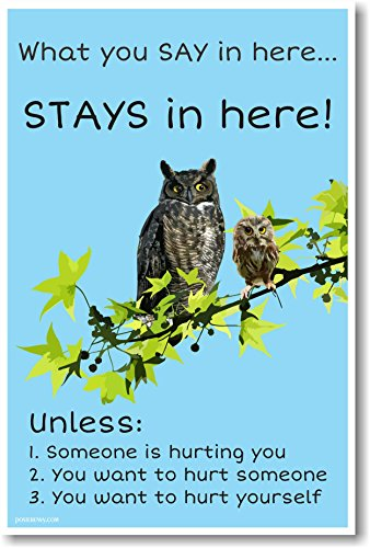 What You Say In Here Stays In Here - NEW Classroom Motivational Poster