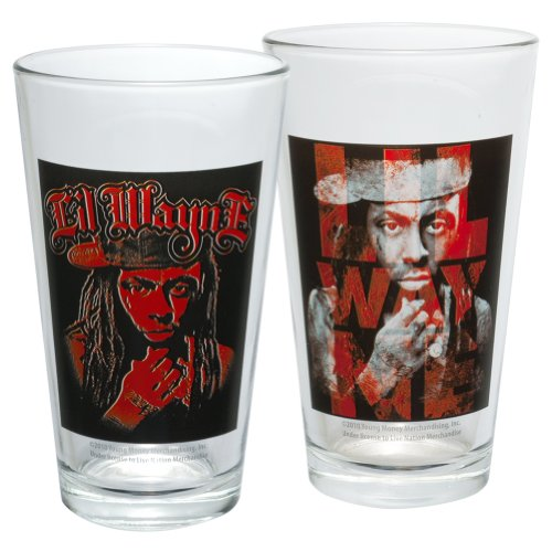 Lil Wayne Merchandise - Lil Wayne - Thinking Two Pack Pint Glass Set