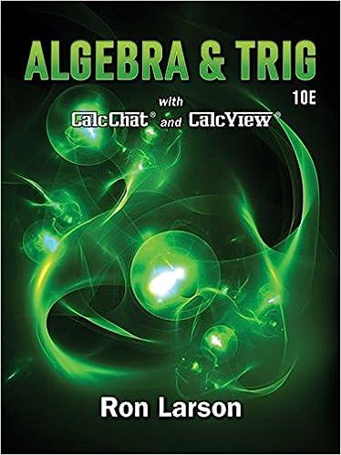 Algebra & Trigonometry