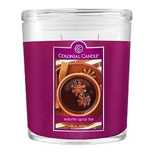 Colonial Candle Autumn Collection Autumn Spice Tea 22-Ounce Oval Jar Candle