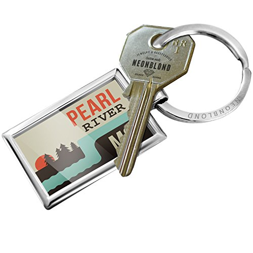 NEONBLOND Keychain USA Rivers Pearl River - Mississippi