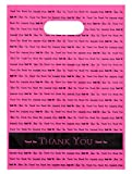"9x12 Hot Pink""Thank You"" Die Cut Handle Plastic Bags 50/cs- Bags Direct Brand: more info"