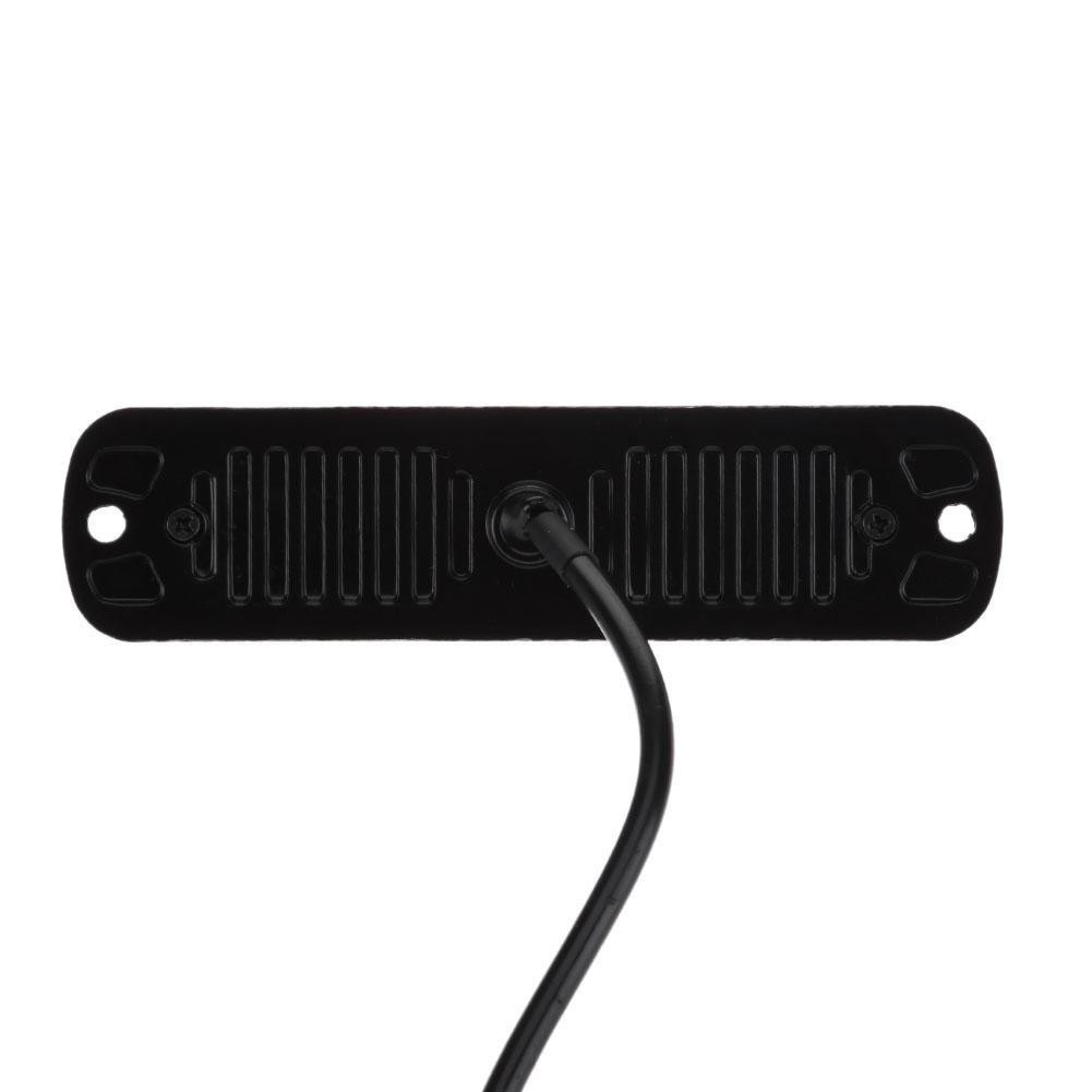 Demiawaking 4pcs 12-24V 6LED Lampeggiante Emergenza Luce Stroboscopica davvertimento del Veicolo dellautomobile Barra Luminosa Flash Sottile per Moto Auto Camion