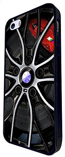 719 - Men'S Fun Wheel Tyres Print Look Design iphone SE - 2016 Coque Fashion Trend Case Coque Protection Cover plastique et métal - Noir