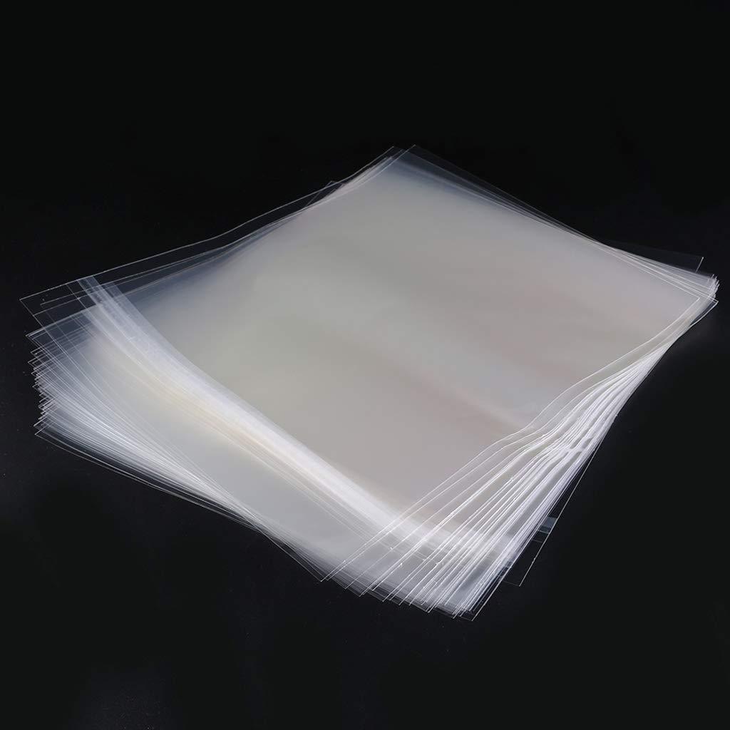 50/pcs 4/mil Plastique refermable Disque Vinyle ext/érieur Manches pour 30,5/cm Vinyl LP Gatefold 2LP