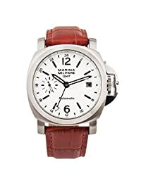Whatswatch Parnis automatic white dial GMT (24HR) men's watch PA-015