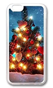 MOKSHOP Adorable Christmas tree decorations Soft Case Protective Shell Cell Phone Cover For Apple Iphone 6 (4.7 Inch) - TPU Transparent
