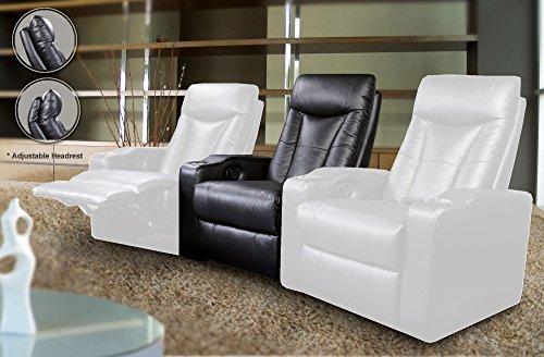 (Coaster Home Furnishings Pavillion Home Theater Adjustable Headrest Element Recliner Black)