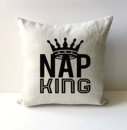 Phrase Gift Pillow - Nap King Pillow Cover, Pillowcase With Words, Pillowcase For Men, Pillow Cover With Saying, Fathers Day Pillow Cover, Phrase Pillowcase, Gift for Dad